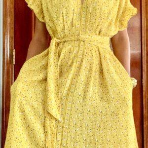 Atelier Max Montana Ruffle Detail Dress Yellow med
